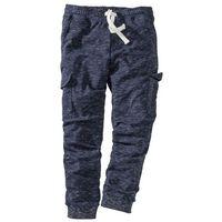 7c911848e549 Spodnie sportowe z kieszeniami z boku nogawki bonprix ciemnoniebieski melanż