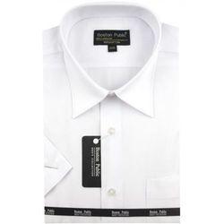 ce45e64d31eef3 Koszula Męska Boston Public gładka biała na krótki rękaw K541, K541