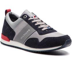 84275ad22b83a Sneakersy TOMMY HILFIGER - Iconic Material Mix Runner FM0FM02042  Midnight/Light Grey/Tango Red 903