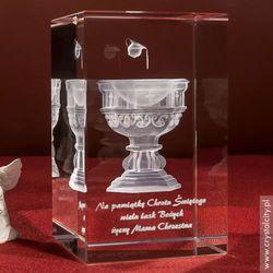 Pamiątka Chrztu »Chrzcielnica« średnia • personalizowana statuetka 3D