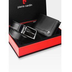 c6116b5603332 Pierre cardin Zestaw prezentowy męski portfel pasek prezent skórzany  oryginalny zg-10 - czarny