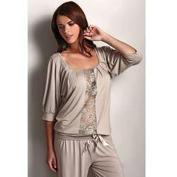 Damska bambusowa piżama serena beżowy s marki Luisa moretti