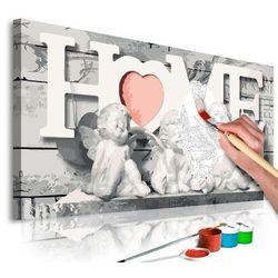 Artgeist Obraz do samodzielnego malowania - aniołki (home)
