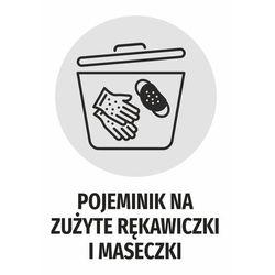 Naklejka pojemnik na zużyte rękawiczki i maseczki