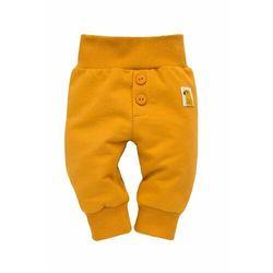 Spodnie niemowlęce żółte Nice Day 6M38AW