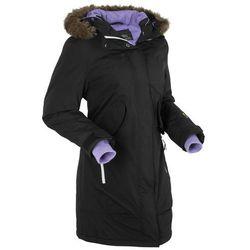 Płaszcz funkcyjny outdoorowy bonprix czarny, kolor czarny