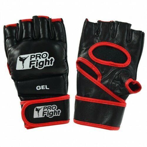 Rękawice MMA Gloves Profight PU czarne L (5902860635963)
