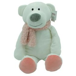 Axiom maskotka niedźwiedź kamil różowy szalik 35 cm