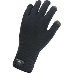 Sealskinz waterproof all weather ultra grip rękawice z dzianiny, czarny m   9 2021 rękawiczki dotykowe do smartphona (5055754428636)
