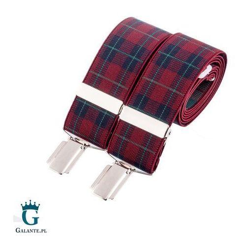 Szelki do spodni w kratę br-040 marki David aster - made in england