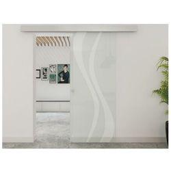 Vente-unique.pl Zlicowane drzwi przesuwne irina – 205 × 83 cm (wys. × szer.) – szkło hartowane