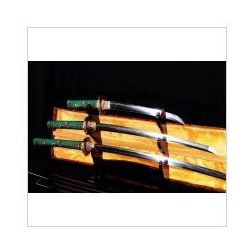 Zestaw mieczy japońskich samurajskich honsanmai do treningu, stal warstwowana i wysokowęglowa, r780 marki Kuźnia mieczy samurajskich