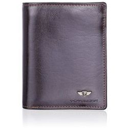 Duży brązowy portfel męski 302 rfid marki Peterson