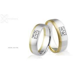 Obrączki ślubne - wzór Au-738