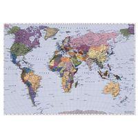 Fototapety, Fototapeta WORLD MAP 270 x 188 cm