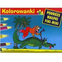 Książki dla dzieci, Kolorowanki Podróże Małpki Fiki-Miki (opr. miękka)
