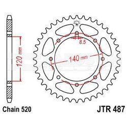 Zębatka tylna stalowa JT 487-43, 43Z, rozmiar 520 2300600 Kawasaki BJ 250, KL 650