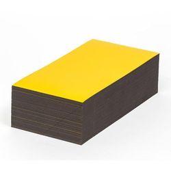 Magnetyczna tablica magazynowa, żółte, wys. x szer. 50x150 mm, opak. 100 szt. Za