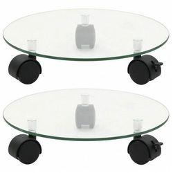 Zestaw szklanych kwietników na kółkach - Toren 3X