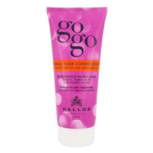 Odżywianie włosów, Kallos Gogo odżywka regenerująca do włosów suchych i zniszczonych (Repair Hair Conditioner for Dry, Brittle and Damaged Hair) 200 ml
