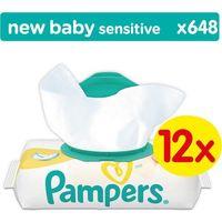 Chusteczki dla niemowląt, Pampers Chusteczki Sensitive 12 x 54 szt. - BEZPŁATNY ODBIÓR: WROCŁAW!