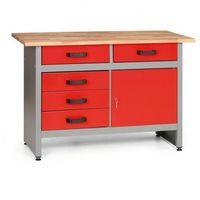 Stoły warsztatowe, Stół roboczy z szufladami i szafką
