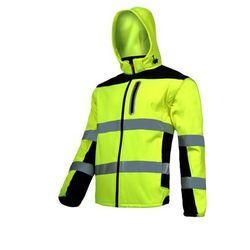 """LAHTI PRO L4091904 Kurtka SOFT-SHELL ostrzegawcza z odpinanymi rękawami, żółta, """"XL"""", CE"""