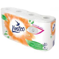 Papier toaletowy biały 3 warstwowy Linteo /8szt/