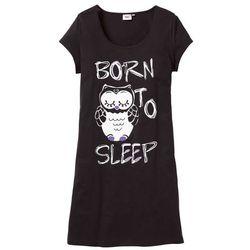 Koszula nocna bonprix czarny - sowa