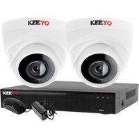 Kamery przemysłowe, Monitoring 2 kamery zestaw do monitoringu firmy biura rejestrator 4 kanałowy LV-XVR44N-II 2x kamera LV-AL1M2FDPWH