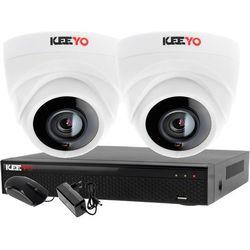 Monitoring 2 kamery zestaw do monitoringu firmy biura rejestrator 4 kanałowy LV-XVR44N-II 2x kamera LV-AL1M2FDPWH