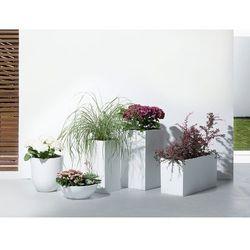 Doniczka biała - ogrodowa - balkonowa - ozdobna - 100x40x50 cm - ORTA