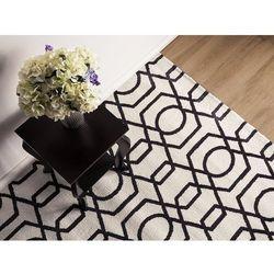 Dywan czarno-beżowy 160 x 230 cm krótkowłosy LAMIA