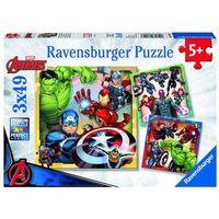 Puzzle, Ravensburger Disney puzzle Marvel Avengers 3x49 elementów