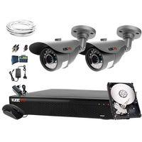 Zestawy monitoringowe, Zestaw do monitoringu: Rejestrator LV-XVR44S, 2 x Kamera LV-AL20HT, 1TB, akcesoria