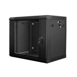 LANBERG Szafa instalacyjna wisząca 19\'\' 9U 600X450mm czarna (drzwi szklane)