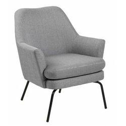 Komfortowy fotel wypoczynkowy szary - Darli