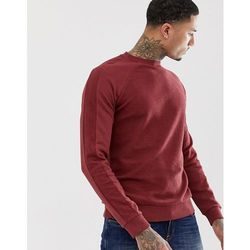 ASOS DESIGN sweatshirt in reverse loopback with raglan cut and sew in red - Red