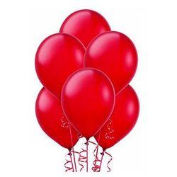 Balony lateksowe metaliczne czerwone - średnie - 100 szt.