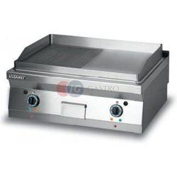Grill płytowy elektryczny - płyta 1/2 ryflowana + 1/2 gładka dwie strefy grzewcze Lozamet linia 700 L700.GPE800RG