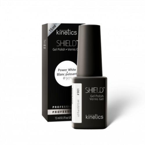 Lakiery do paznokci, Kinetics Shield POWER WHITE BLANC PUISSANT Biała baza pod lakier hybrydowy