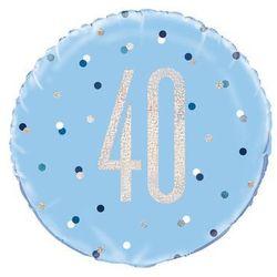 Balon foliowy niebieski - 40 - 46 cm - 1 szt.
