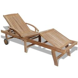 vidaXL Leżak z drewna tekowego, regulowany w 5 pozycjach Darmowa wysyłka i zwroty
