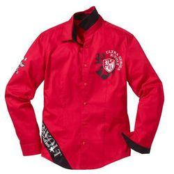 Koszula z długim rękawem Slim Fit bonprix czerwony