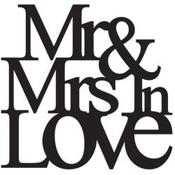 Naklejka welurowa Mr. Love 19 x 32 cm
