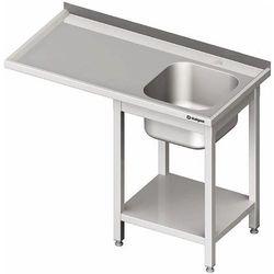 Stół ze zlewem jednokomorowym z prawej strony i miejscem na lodówkę lub zmywarkę 1700x700x900 mm | STALGAST, 980957170