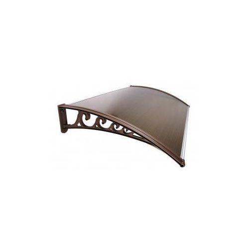 Akcesoria do dachów, Daszek Zadaszenie Drzwi Klasyczne 100 x 60 - BRĄZOWY