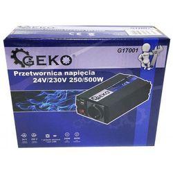 Przetwornica napięcia 24V/230V 250/500W Geko G17001