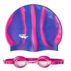 Okulary pływackie SPURT 1100 AF 14 + czepek MI7
