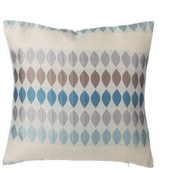 Poduszka dekoracyjna w krople niebieska/szara 45 x 45 cm